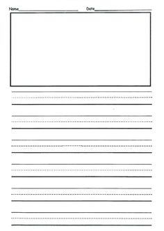 Free 2nd Grade Writing Template | This Is Front U0026 Back And They Can Use As