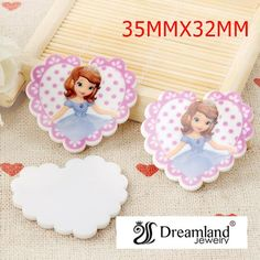 Find More Resin Crafts Information about 50pcs/lot 35MM*32MM fashion little girl lovely princess cartoon flat back planar resin heart DIY phone decorations DL 226,High Quality decor from Dreamland Fashion Jewelry on Aliexpress.com