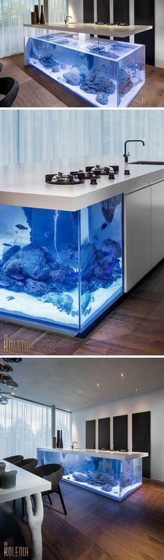 Robert Koleniku0027s Kitchen Island Doubles As A Lavish Aquarium | Aquariums,  Kitchens And Interiors