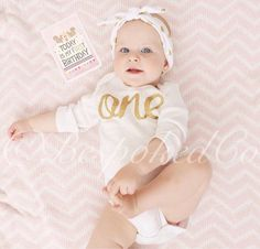 Gold One first Birthday top /Gold One 1st Birthday by BespokedCo