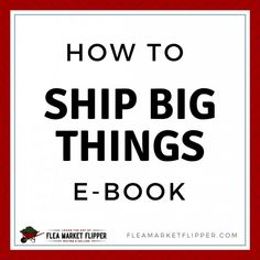 Don't let freight shipping hold you back from selling large items! It can be so much simpler than it seems. Shipping large items can help increase profits! Business Advice, Business Entrepreneur, Online Business, Garage Sale Tips, Next Sale, I Quit My Job, Lost Money, Multi Level Marketing, Make More Money