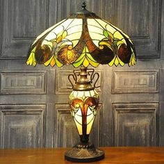 Tiffany Stained Glass Lamp & Shade Home Decor Table Desk 68cm Large Unique Lamps