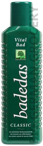 I dream about badedas!  Still use this and it is called Vita Bath in Canada!  Contains horse chestnuts!