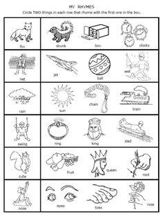 Rhyming Worksheet for Kindergarten. 30 Rhyming Worksheet for Kindergarten. Letter Worksheets Fun Science Worksheets for Kids Addition Rhyming Kindergarten, Rhyming Activities, Kindergarten Reading, Kindergarten Worksheets, Student Reading, Rhyming Worksheet, Reading Worksheets, Spanish Worksheets, Writing