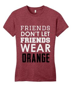 Look at this Line Liam Red & White 'Friends Don't Let Friends' Tee on today!