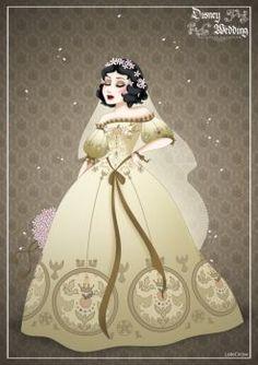 SnowWhite - Disney Wedding Princess designer by GFantasy92