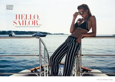 """Hello Sailor"" Tamara Weijenberg graces the pages of Tatler UK's yachting supplement. Photos by Naomi Yang"