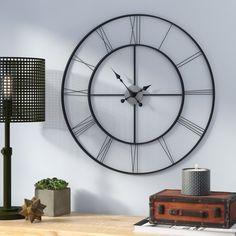 "Oversized 30"" Black Decorative Wall Clock"