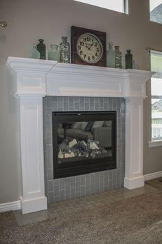 Craftsman style fireplace