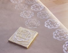 conundrum: DIY: Stamped Wrapping Paper
