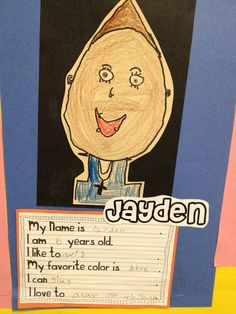 All About Me bulletin board for back to school time.  I like how she had each student's name enlarged.