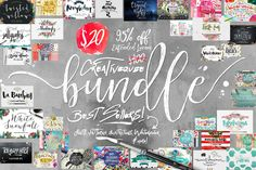 Bundle of Fonts and Graphics 95% Off by Creativeqube Design on @creativemarket