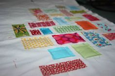 Finally--what to do with all of those baby scraps! Tiny Ticker Tape Quilt Tutorial