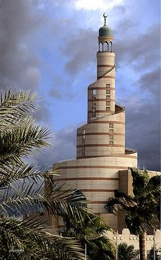 Doha, Qatar - IS this a lighthouse or not? It's the Qatar Islamic Cultural Center in Doha. Islamic Architecture, Amazing Architecture, Art And Architecture, Architecture Wallpaper, Beautiful Mosques, Beautiful Buildings, Beautiful Places, Beautiful Pictures, Lighthouse Pictures