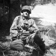 A Waffen SS officer.
