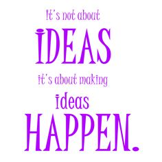 It's not about ideas, it's about making ideas happen. https://instagram.com/the2.0life/