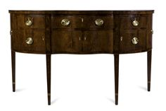 Sideboard, Lexington KY, Fayette County or Fayette County area, 1800‑1815, Cherry, walnut, probably eastern hophornbeam, probably American holly, other woods, bone, celluloid, Speed Museum purchase, through the gifts and bequests of generous donors by exchange, 2012.1. Photo courtesy of the Speed Museum