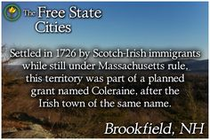 History and statistics of Brookfield can be found at The Free State! http://freestatenh.org/encyclopedia/cities/brookfield