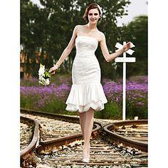 BÉBHIONN - Kleid für die Braut aus Satin und Spitze – EUR € 89.99