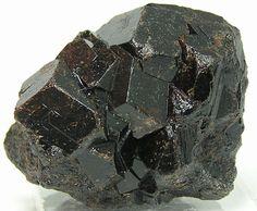 Black Melanite Andradite Garnet Crystal Cluster by FenderMinerals,