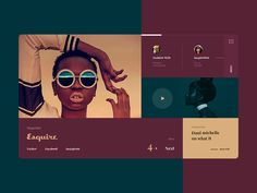 Esquire Redesign designed by Yaroslav. Connect with them on Dribbble; Modern Web Design, Ui Ux Design, Layout Design, Ui Color, Application Design, Calendar Design, Interactive Design, Esquire, Graphic Design Illustration