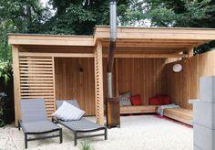 Stoere houten veranda Amsterdam