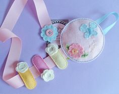 Princess Garden. Bows and Clips Holder. Made with 100 Pecent Wool Felt. Great For Felt Clips.. $18.45, via Etsy.