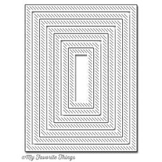 My Favorite Things INSIDE AND OUT DIAGONAL STITCHED RECTANGLE STAX Die-Namics…