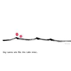 tiny waves like the calm mind, by:7e55e  #zen #buddhism
