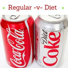 Which is better for you?  I won't say don't drink any soda as yes I do occasionally grab one but not often.  Soda truly offers no value to you.  BUT when having one- should you choose the regular or the diet?  At first glance the zero calories and little to no sugar seem like an easy pick.  But is it?  Research shows that those who drank diet actually gained more weight than those drinking regular.  Also artificial sweeteners has been linked to increased chance type 2 Diabetes heart attack…