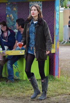 Image result for alexa chung glastonbury 2016