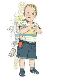 Fashion Illustration // Kids and Baby by Rose Darling, via Behance