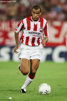 Rivaldo (Olympiakos). Football Players, Fifa, Superstar, Athlete, Running, Sports, Naxos Greece, Full Moon, History