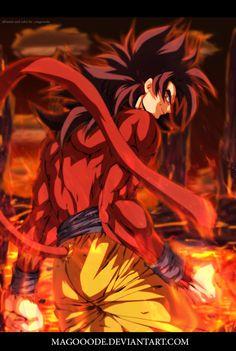 Goku ss4 - Dragon Ball GT by Magooode.deviantart.com on @DeviantArt