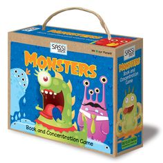 #Sassi Junior: Monsters - Book and concentration game with 20 cards and a 10-pages book. #eco #friendly #book #game