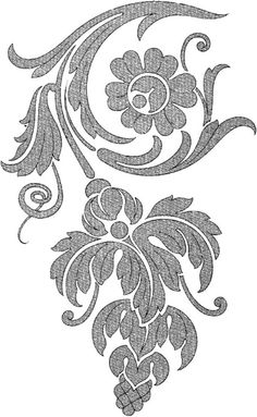 Grand Sewing Embroidery Designs At Home Ideas. Beauteous Finished Sewing Embroidery Designs At Home Ideas. Bordado Jacobean, Jacobean Embroidery, Embroidery Motifs, Machine Embroidery, Embroidery Designs, Embroidery Flowers Pattern, Hand Flowers, Gold Work, Stencil Designs