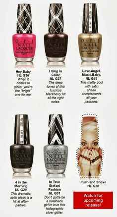 O.P.I. Gwen Stefani Collection January 2014 - First Look