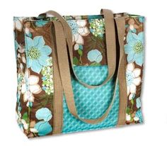 Wild Flowers Tote Bag (PDF file) by {Fabric Editions}