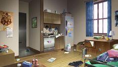 messy deviantart living anime interior episode vui huynh backgrounds bakery