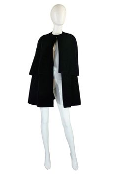 1967 Couture Christian Dior Velvet Cape  USD3,500