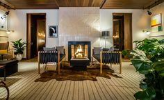 Lobby Fireplace, Smyth TriBeCa