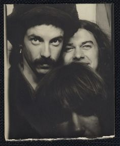 vintage photo PHOTOBOOTH THREE CRAZY YOUNG MEN 1950s