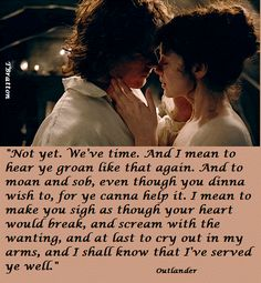 Jamie and Claire Outlander Quotes, Outlander Tv Series, Sam Heughan Outlander, Outlander Book, Gabaldon Outlander, Jamie Fraser, Claire Fraser, Scottish Castles, Jamie And Claire
