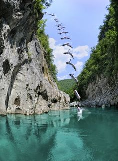 Cliff diving in Bosnia, made with ActionshotApp