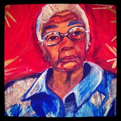 Work in Progress, by Natasha Kozaily, of 104 year old Julia Hydes.  Caymanian folk drummer.  Legend. Idol.
