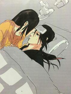 anime, naruto shippuden, itachi and izumi, itaizu, fanart