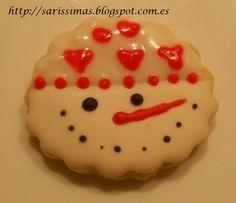 Galletas -muñeco de nieve :)