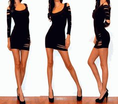 Ebay Style 491 Cut Out 3/4 sleeves $12.99