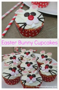 Super easy cute Easter bunny cupcakes the family will love. Easter Bunny Cupcakes, Cute Easter Bunny, Cute Cupcakes, Cupcake Cookies, Candy Recipes, Cookie Recipes, Easter Recipes, Easter Ideas, Easter Desserts