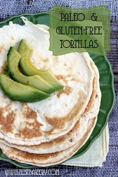 paleo and gluten-free tortillas This recipe is based on the coconut flour tortilla recipe from Paleo Comfort Foods. The ingredients form more of a batter than a dough and yield about 8 pliable soft tacos. Ingredients cup coconut flour g) Low Carb Recipes, Whole Food Recipes, Cooking Recipes, Drink Recipes, Bread Recipes, Cooking Tips, Vegetarian Recipes, Gluten Free Tortillas, Flour Tortillas